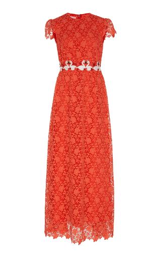 Medium giamba red flamingo lace dress