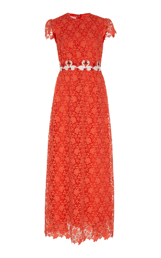 Medium giamba red flamingo lace dress
