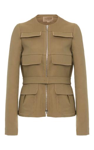 Medium giambattista valli tan flap pocket jacket