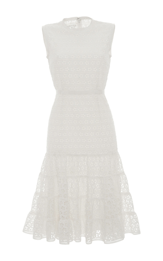 Medium giambattista valli white a line eyelet dress