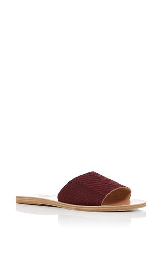 Medium ancient greek sandals burgundy snake taygete slides