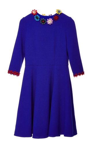 Medium mary katrantzou blue cooper embroidered dress