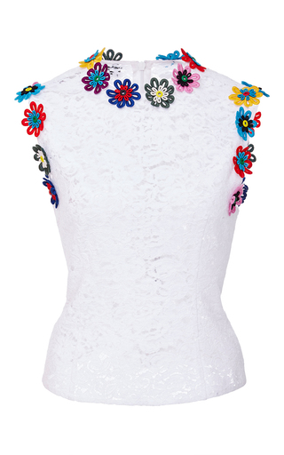 Medium mary katrantzou white lee sleeveless top