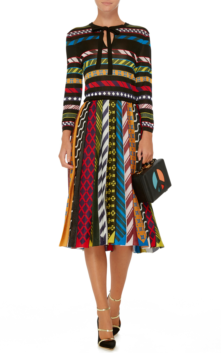 Operandi Faye Long Mary Katrantzou Moda Dress Printed Sleeve By rX8q1xrw