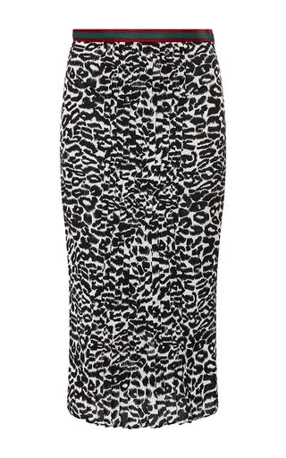 Medium piamita print amber leopard midi skirt