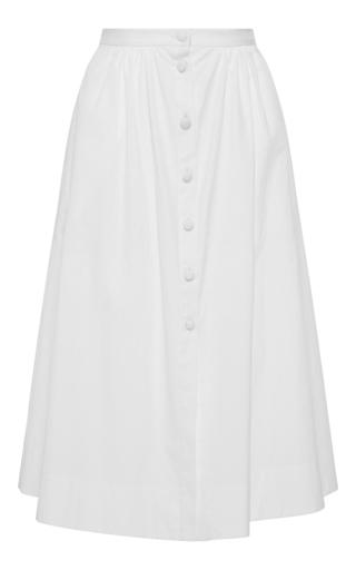 Medium piamita white taylor button front skirt