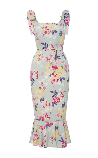 Medium piamita floral lisa ruffled floral midi dress