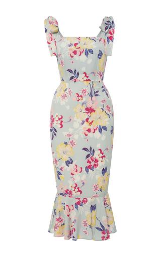 Medium piamita floral lisa ruffled floral midi dress