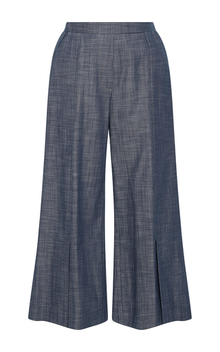 Medium piamita blue harley cropped chambray pants