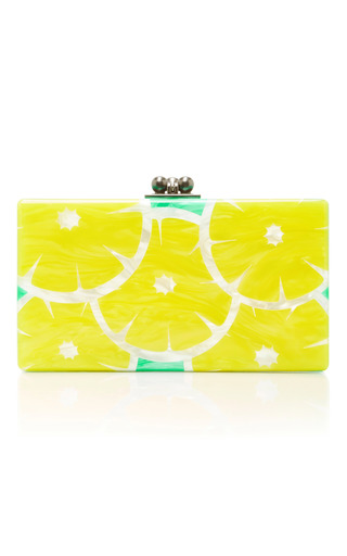 Medium edie parker yellow m o exclusive jean slices clutch