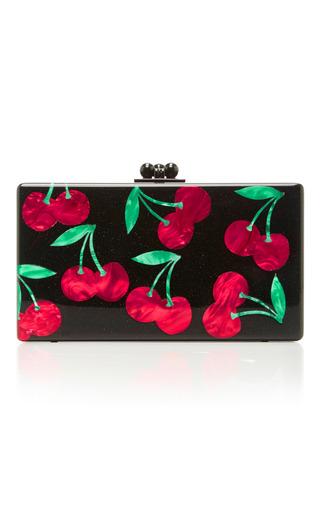 Medium edie parker black m o exclusive obsidian cherries clutch