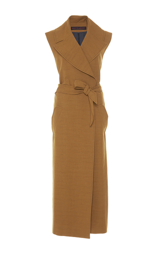 Medium martin grant tan long gilet trench