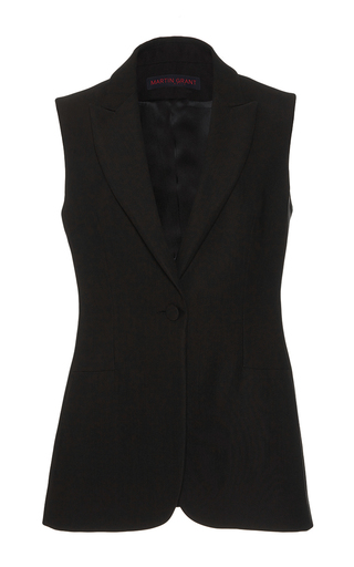 Medium martin grant black tuxedo vest gilet
