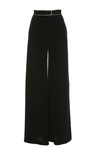 Medium martin grant black contrast piping wide leg pants