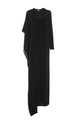 Medium martin grant black asymmetrical long scarf dress