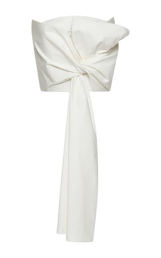Medium delpozo white strapless draped bow top