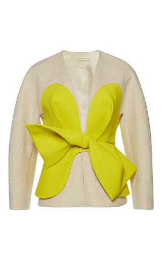 Medium delpozo tan jacket with contrast yoke