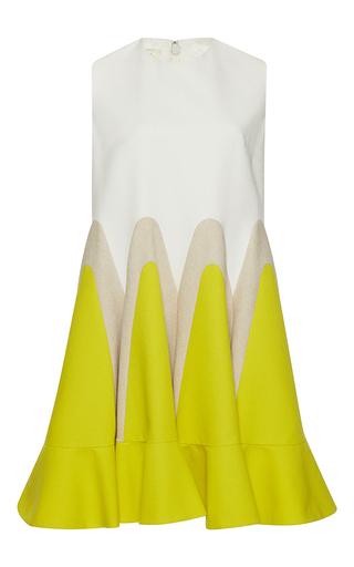 Medium delpozo yellow sleeveless peplum shift dress