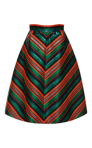 Medium delpozo multi striped pleated mini skirt