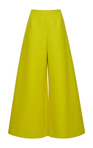 Medium delpozo yellow wide legged trousers 4