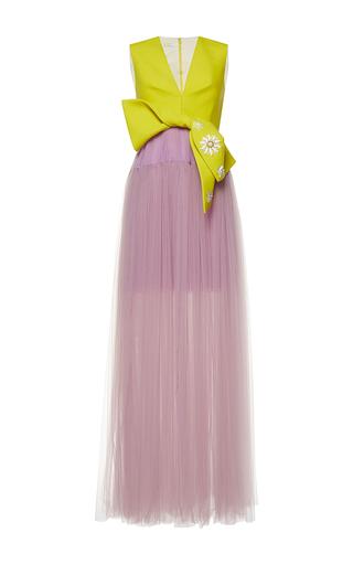 Medium delpozo multi sleeveless v neck gown