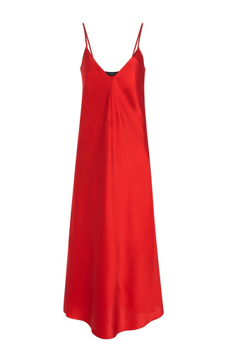 Medium ellery pink cherry technopriest silk satin dress
