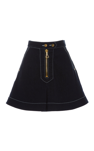 Medium ellery navy el topo mini skirt