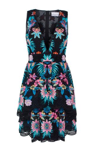 Medium zuhair murad black short layered macrame dress