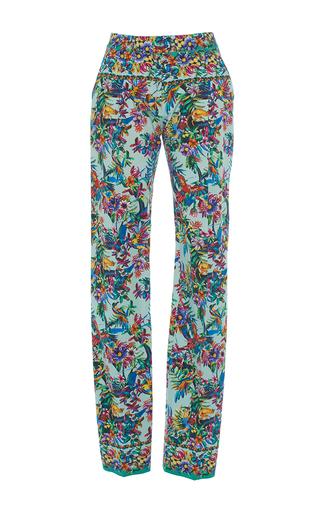 Medium zuhair murad print straight leg cotton printed pants