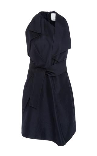 Medium acler navy mercer sleeveless mini dress