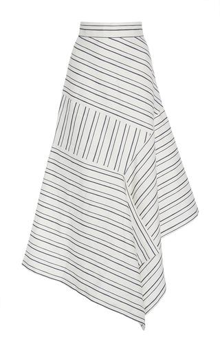 Medium acler stripe harlan wrap asymmetric skirt