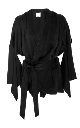 Medium acler black knox wrap kimono top