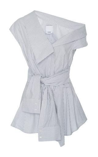 Medium acler stripe waldorf deconstructed collar shirt 2