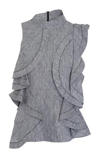 Medium acler dark grey granite pelham cascading ruffle top