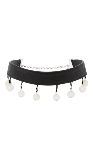 Medium sophie buhai black pearl drop choker
