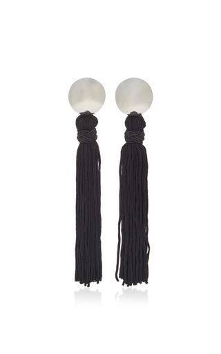 Medium sophie buhai black vanderbilt tassel earrings