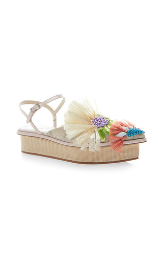 Medium delpozo neutral platform wedge sandal