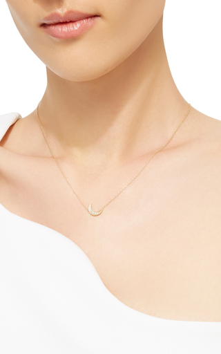 Mini Crescent Necklace by ANDREA FOHRMAN Now Available on Moda Operandi