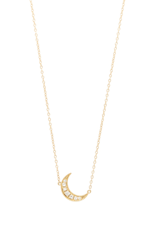 Medium andrea fohrman yellow mini crescent necklace 2