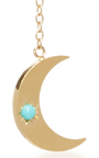 Crescent Moon Earrings by ANDREA FOHRMAN Now Available on Moda Operandi