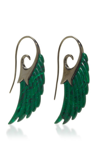 Medium noor fares green fly me to the mood wing earrings
