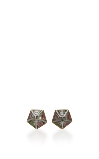 Geometry 101 Rainbow Cone Stud Earrings by NOOR FARES Now Available on Moda Operandi