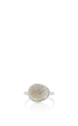 Medium nina runsdorf light grey labradorite ring