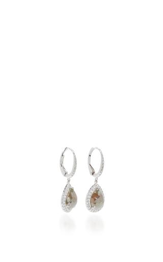Rose Cut Pearshape Icy Diamond Earrings by NINA RUNSDORF Now Available on Moda Operandi