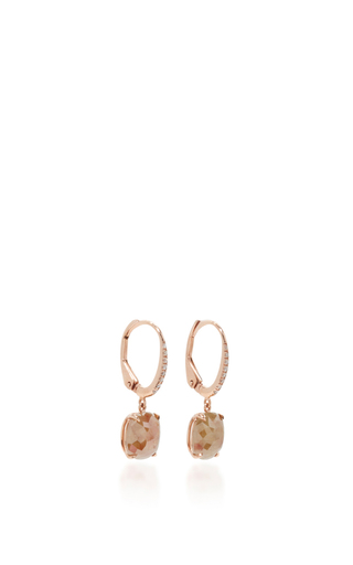 Rose Cut Icy Diamond Cushion Earrings by NINA RUNSDORF Now Available on Moda Operandi
