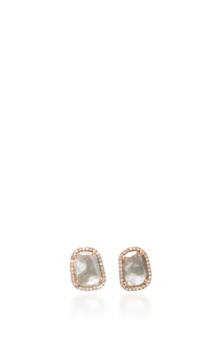 Medium nina runsdorf light grey slice diamond studs