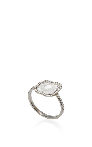 Sliced Diamond Ring by NINA RUNSDORF Now Available on Moda Operandi