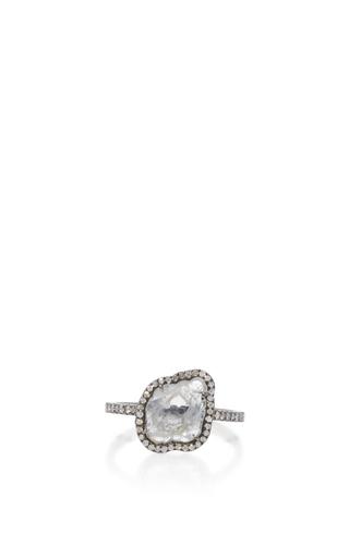 Medium nina runsdorf light grey sliced diamond ring