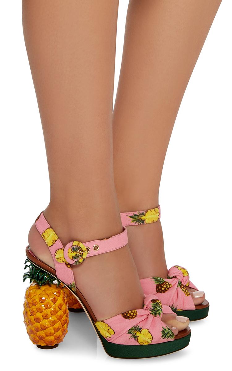 Pineapple Sandals By Dolce Amp Gabbana Moda Operandi