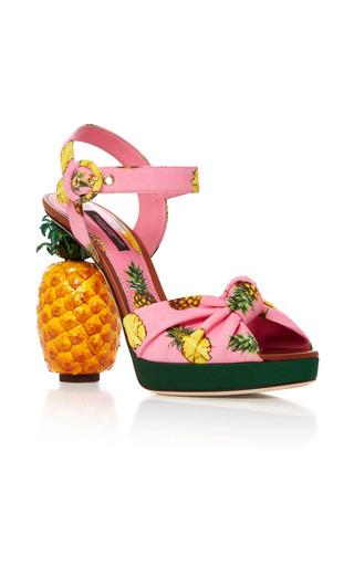 Medium dolce gabbana light pink pineapple sandals